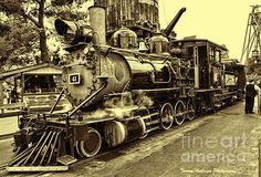 Old Steam Train Photograph  - Old Steam Train Fine Art Print