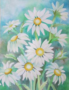 Drawing and Painting Daisies Using Negative Watercolor Painting: an lovely watercolor technique that has amazing results.