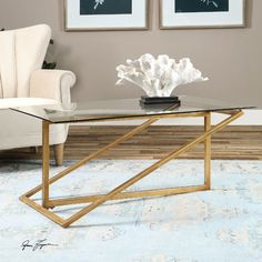 """Features:  -Material: Glass.  -Zerrin collection.  Top Finish: -Gold.  Top Material: -Glass.  Base Material: -Metal.  Base Material Details: -Iron. Dimensions:  Overall Height - Top to Bottom: -24""""."""