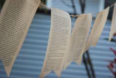 homemade hootenanny- simple book page bunting. Image by @sarabethjones