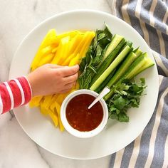 Chicken lettuce wrap fixings: mango cucumber basil cilantro and sweet chili sauce   What are you having for dinner? #dinnerideas #f52grams #huffposttaste #buzzfeedfood