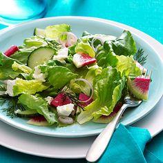 Watermelon Radish and Goat Cheese Salad