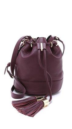 See by Chloe Vicki Small Bucket Bag, plum $395   Shopbop
