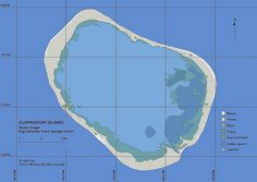 Map of Clipperton island