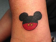 This is the eleventh tattoo I've done. I did a simple Disney Mickey Mouse tattoo on our piercer's inner arm. This was fresh, right after I finished tattooing. I'm a tattoo and piercing apprentice at Fine Line Tattoo Company in Gettysburg, PA.
