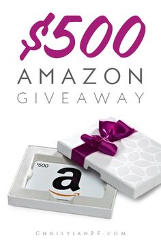 EASY TO ENTER, $500 Amazon gift card giveaway running from Dec 1st to Dec 21st - Pinterest entries, blog comment entries, twitter entries, all easy stuff -