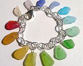 Rainbow Sea Glass Bracelet