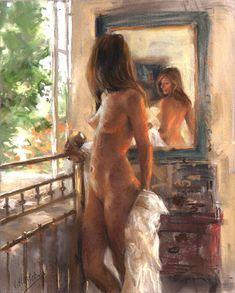 D.W.C. Beautiful Woman - Painter Vicente Romero Redondo | DANCES WITH COLORS