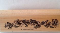 1998 Stampin Up Easter Morn Rare EASTER LILIES rubber stamp #StampinUp