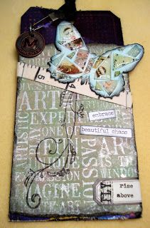 My stuff, my life: Rise above - (Tim Holtz 12 Tags of 2016, April Tag version 1)...