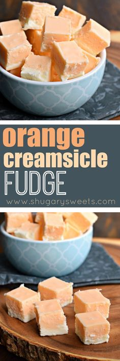 Orange Creamsicle Fudge is like your favorite ice cream treat from the truck - but it doesn't melt! Just the right amount of sweet for an afternoon jolt of happiness.