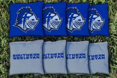 Southern Wesleyan Warriors Team Logo Cornhole Replacement Bag Set