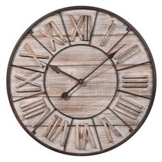 Horloge en bois D 60 cm TOSCANA