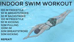 Dont let the cooler weather hold you back from getting in a sweat sesh! Take your workout indoors to the pool and get in a full-body workout thatll work every Lap Swimming, Swimming Tips, Swimming Workouts, Bike Workouts, Cycling Workout, Swimming Games, Swimming Fitness, Water Workouts, Pool Exercises