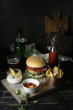 Burgers + Fries.