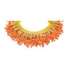 Miriam Haskell Fringe Bib Necklace