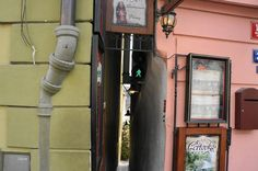 Prague's Narrowest Street is So Narrow it Has Traffic Lights For Pedestrians