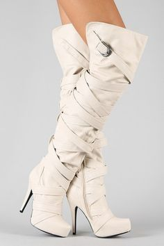 I would wear these white boots after labor day. ...awesome :)