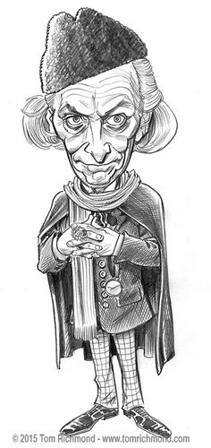 You can probably guess what this new caricature of William Hartnell as the first Doctor Who is for. I have at least a dozen people come up to me at every convention I appear at and ask if I still h...