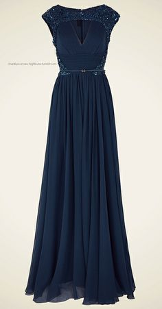 4d35919a Women's Blue Chiffon Beaded Cap Sleeve Gown | Style Evolution: Back ...