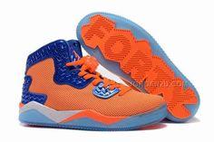 promo code 93596 193a1 Mens Jordan Air Spike 40 Forty PE Total Orange Total Orange Game Royal-White