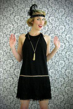 DIY Flapper Dress Costume and Gatsby headband.