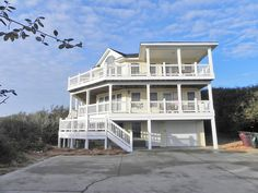 """Overdraft"" is a unique semi-oceanfront estate located less than 300 feet to the beach! Situated in the desirable area of Southern Shores, ""Overdraft"" is close to charming Duck Village as well as OBX attractions, restaurants and shopping. This coastal home offers a spacious and relaxing environment for your next Outer Banks vacation or special event!"