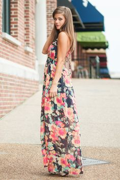See You Bloom Maxi Dress, Navy