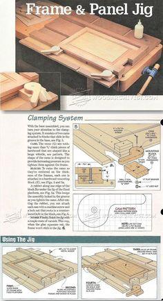 Frame and Panel Gluing Up Jig - Cabinet Door Construction Techniques | WoodArchivist.com