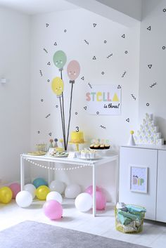 DE LUNARES Y NARANJAS: Inspiración: Happy Balloons Birthday Party by Nina Designs