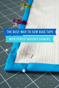 Here's the best and easiest way to sew bias tape with mitered corners. Includes detailed step-by-step photos plus a…