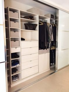 Custom reach in closets Closet Design Reach In Closet Sliding Closet Doors Bathroom Closet Upstairs Bedroom Custom Closets Closet Designs Living Room Kitchen Closet Organization Expert Closets 55 Best Reachin Closet Organizers Images Custom Cabinetry Custom