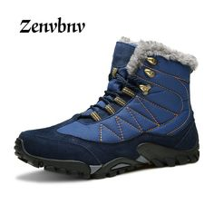 7f0746245da Buy DJSUNNYMIX New Outdoor Climbing Traveling Camping Snow Boots Winter Fur  Warm hiking Shoes Waterproof Ankle Botas men sneakers
