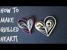 How to Make Quick Quilled Hearts - YouTube (scheduled via http://www.tailwindapp.com?utm_source=pinterest&utm_medium=twpin&utm_content=post28111424&utm_campaign=scheduler_attribution)