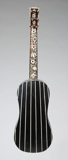 Guitar - Maker: Joachim Tielke (German, 1641–1719), Date: ca. 1695–99, Geography: Hamburg, Germany, Culture: German, Medium: Wood, ivory, ebony. Classification: Chordophone-Lute-plucked-fretted