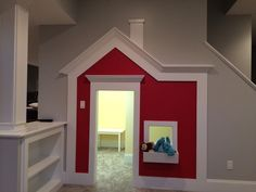 New basement playhouse under the stairs!