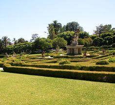 Busch Manor's European-styled gardens #losangeles #pasadena #mansion #estate #luxury #exquisite #summer #english #statues