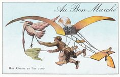 Here's How People 100 Years Ago Thought We'd Be Living Today | What would people do if they could fly in machines? They would catch birds. Obviously. Courtesy of Ed Fries  | WIRED.com