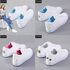 20 Ideas For Fashion Outfits Korean Shoes Sneakers Fashion, Fashion Shoes, Shoes Sneakers, Fashion Outfits, White Casual Sneakers, Casual Shoes, Korean Shoes, Shoe Boots, Ankle Boots