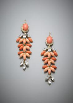 LYDELL NYC  Navette Linear Chandelier Earrings