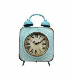 A Loja do Gato Preto | Relógio de Mesa Azul / Turquesa #alojadogatopreto