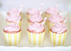Pink Lemonade Cupcakes...these delicious treats would be perfect for Valentine's Day!