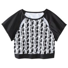 Peter Pilotto® for Target® Bikini Crop Top -Black/White Print