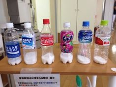 ジュースに入っている砂糖の量 笠岡市民病院作成サンプル Sugar in juice at Kasaoka civic hospital Health Fair, Kids Health, Health Diet, Health Fitness, Monster Food, Dental Facts, Science Fair Projects, Perfect Body, Good To Know