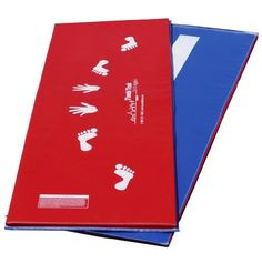 "Tumbl Trak Red and Royal Blue Cartwheel Beam Mat, Hands and Feet on Red Side and Beam Line on Royal Blue Side, 2-Feet Width x 6-Feet Length x 5/8-Inch Height by Tumbl Trak. $96.56. Our Cartwheel Beam Mat adds functionality by providing a white practice ""beam stripe"" on one side as well as hand/foot cartwheel guides on the other. They are made with 18 oz. vinyl and 5/8"" industry standard, cross-linked polyethylene foam. On the red side use the hand/foot prints to prac..."