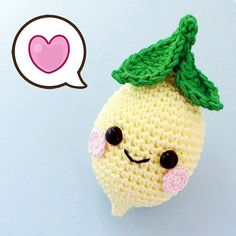 Free Pattern Kawaii Lemon Amigurumi - описание лимона крючком: https://vk.com/wall-3842870_10335 #amigurumi #freepattern