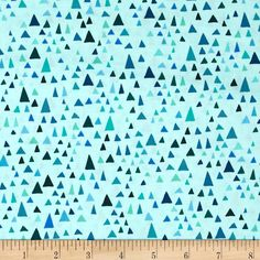 Robert Kaufman In the Bloom Triangles Turquoise from @fabricdotcom  Designed by Valori Wells for Robert Kaufman, this cotton print fabric is perfect for quilting, apparel and home decor accents. Colors include aqua blue, turquoise, navy blue, royal blue and mint.