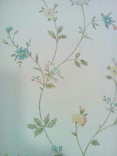 Behang, bloemetje