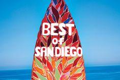 Glass mosaic surfboard was custom-designed by local artist Cherrie La Porte. America's Finest, Local Artists, Mosaic Glass, Surfboard, The Good Place, San Diego, Places To Go, Custom Design, California
