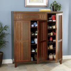 Buy Sebastian Shoe Cabinet Using Bamboo Blinds To Decorate Your Home Article Body: Bamboo blinds are Shoe Storage Cabinet, Closet Storage, Accent Furniture, Home Furniture, Furniture Ideas, Bamboo Blinds, Hemnes, Cabinet Design, Adjustable Shelving